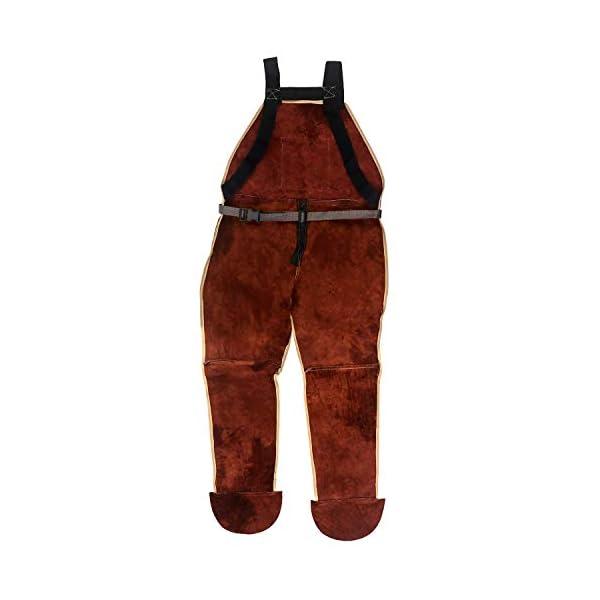 QWORK Leather Welding Apron with Split Legg 2