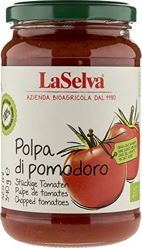 La Selva Bio Polpa di pomodoro - Stückige Tomaten (6 x 340 gr)
