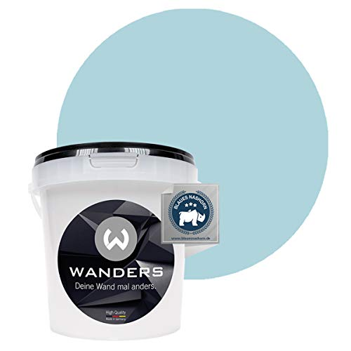 Wanders24® Tafelfarbe (1Liter, Persisch Blau) Blackboard Paint - Tafellack - abwischbare Wandfarbe - in 20 Farbtönen erhältlich - Made in Germany