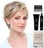 BUNDLE - 5 Items: Anne Heat Friendly Synthetic Wig by Jon Renau, Christy's Wigs Q & A Booklet, HD Smooth Detangler, Synthetic Shampoo & Wide Tooth Comb - Color:4