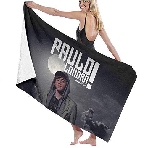 AGHRFH Toalla de playa 100% poliéster, tela de microfibra Paulo Fresh & Flex Lon-dra, toallas multicolor con alta absorción