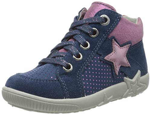 Superfit Mädchen Starlight Sneaker, Blau (Blau/Rosa 80), 22 EU