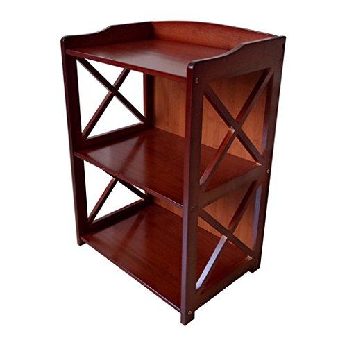 Zheng Hui Shop Multifunktionales Massivholz Regal/Boden Bücherregal Wohnzimmer Lagerregal, Zwei rote Schichten, Umweltschutz (Size : 42cm)