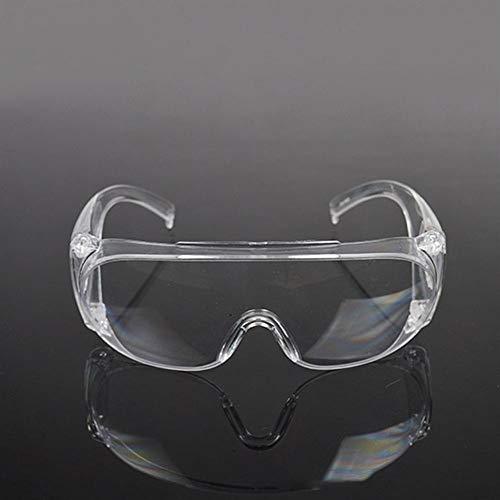 Lentes de Gafas de Seguridad Gafas de protección Anti-Niebla Anti-UV Anti-Impacto del Trabajo de Protección Gafas para construcción Laboratorio Química Uso Personal (Color : Transparent White)