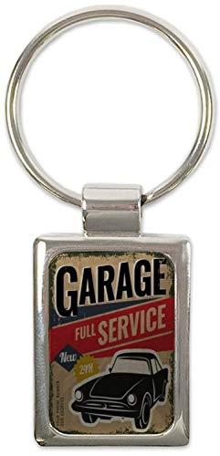 Schlüsselanhänger Garage Werkstatt Bedruckt Tankstelle