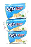Gery Coconut Crackers Net Wt. 3.5oz (100g) 5 Sachets per Pack, 3 Pack