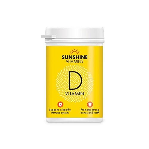 Sunshine Vitamin D3 1000iu Tablets (60 Tablets 2 Month Supply) Vitamin Supplements