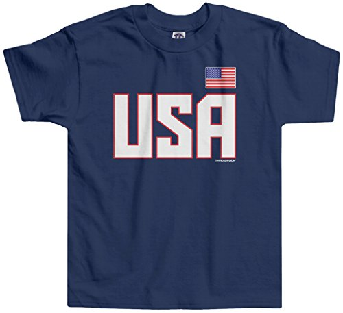 Threadrock Little Boys' USA National Pride Toddler T-Shirt 2T Navy
