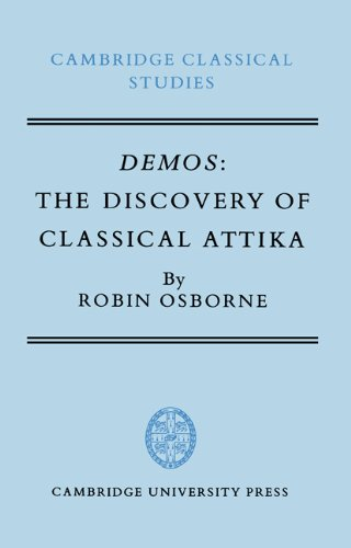 Price comparison product image Demos Discovery of Classical Attika: The Discovery of Classical Attika (Cambridge Classical Studies)
