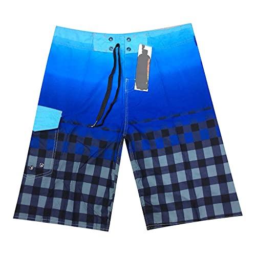 NIGHTMARE Pantalones Cortos Pantalones de Playa de Surf de Secado rápido a Cuadros Rojos con Pantalones Cortos de Baloncesto de Fitness degradados Pantalones Cortos 30