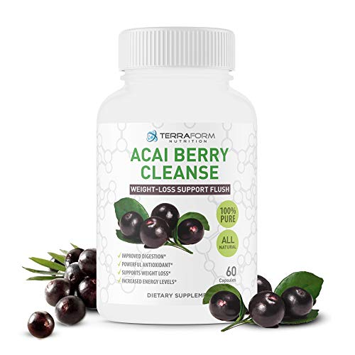 Natural Acai Berry Cleanse – Powerful Antioxidant Cleanse – Liver, Colon & Pancreas Detox Cleanse, Helps Support a Healthy Digestive System - Made in USA – 1 Month Supply