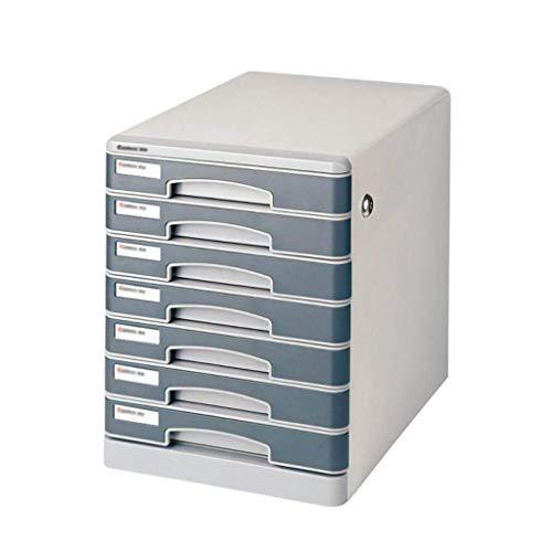 GUOCAO Organizador de cajones de escritorio de 7 capas, con cierre, para oficina, de almacenamiento, confidencialidad, de oficina, de escritorio, de 35,3 x 28 x 36,3 cm.
