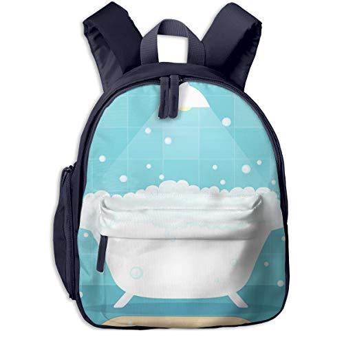 Kinderrucksack Kleinkind Jungen Mädchen Kindergartentasche Bad Badewanne Seifenblasen Backpack Schultasche Rucksack