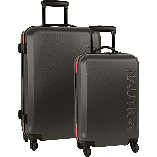 Nautica Ahoy Hardside Expandable 4-Wheeled Luggage, Grey/Orange