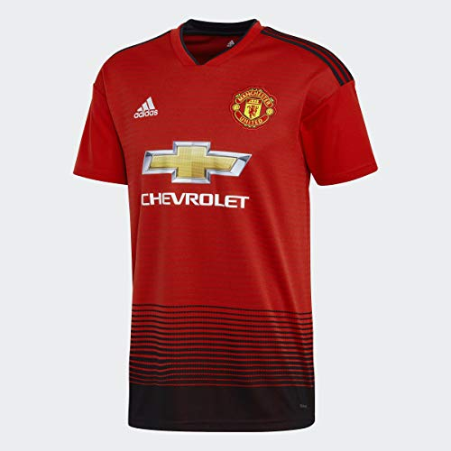 World Cup Soccer Manchester United Soccer Manchester United FC Home Jersey, Large, Real Red