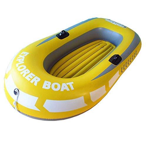 QSs- Kayak Inflable Plegable Kayak Aerodeslizador Inflable Cómodo Kayak Ocio Plegable Barco Bote 1 Persona Marina Pesca Deportiva Aventura Grueso PVC Plástico 150 * 100 cm Amarillo