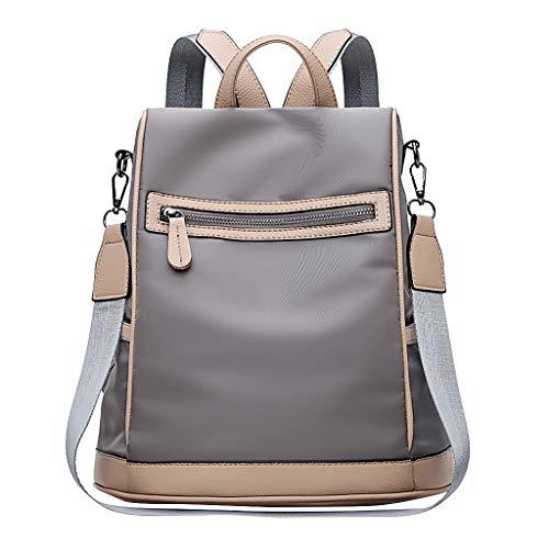 Rucksack Damen Herren, VECOLE Unisex Backpack Einfache Mode Rucksack Umhängetasche Handtasche Große Kapazität Reisetasche Schultasche Campus Studententasche für Universität/Arbeit/Reise(Grau)