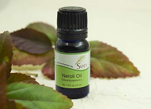 SVATV - 100% puro olio essenziale di neroli (Citrus Aurantium L) non diluito, di grado terapeutico; in flacone da 10 ml