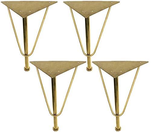 Piernas de muebles ajustables de metal para muebles de acero inoxidable para mesa de té-TV, gabinete triangular, patas de la cama, accesorios de herraje, patas de metal, patas de mesa de café