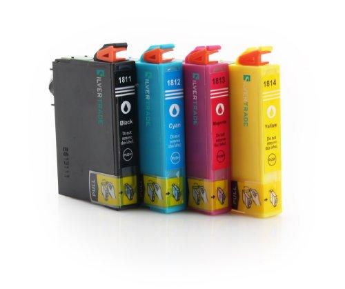 4 x compatibile Cartucce d'inchiostro Epson T1816 (18XL) con CHIP - 1x Nero / 1x Ciano / 1x Magenta / 1x Giallo - per stampante Epson Expression Home X-30/ X-102/ X-202/ X-205/ X-302/ X-305/ X-402/ X-405