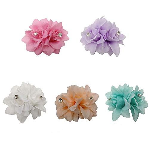 5 piezas de pinzas para el cabello con flores, horquilla de flores...