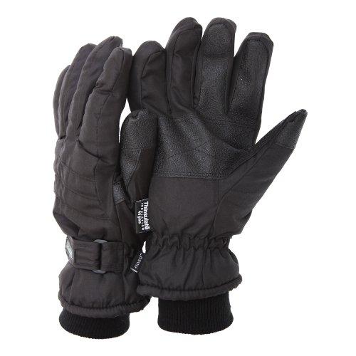 Floso - THINSULATE 3M 40G Guantes de invierno/esquiar/snowboarding/nieve Térmicos con palma adherente (L/XL) (Negro (Como se muestra))