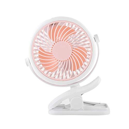 ~ Ventilador clip de la tabla del ventilador mini, ventilador de mesa USB, ventilador de mesa en silencio de 3 velocidades, rotación de 360 °, for cochecitos de los cochecitos de Oficinas for sillas