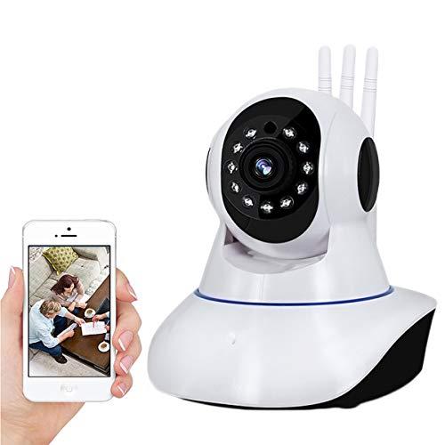 Vigilabebes con Cámara - Rotación Horizontal De 355 ° Y Vertical De 100 ° Cámara De Seguridad para El Hogar WiFi con Visión Nocturna, Detección De Movimiento, Llamada De Audio Bidireccional