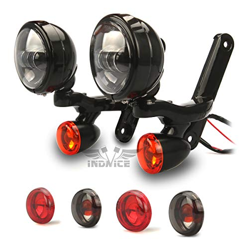 LED Auxiliary Lighting Bracket Fit for harley road glide Turn Signal lights road king Spot Fog Light Fit for harley 1994-UP Touring
