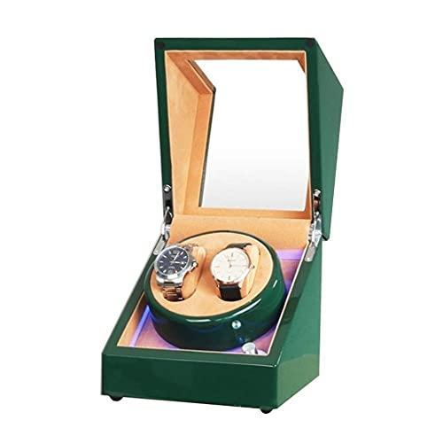 CWYP-MS Caja de Movimiento de Reloj automático Doble Fuente de alimentación Doble Motor Verde Verde Piano Color Exterior para Hombres Relojes para Mujer