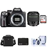 Pentax K-70 DSLR with SMC DA 18-55mm f/3.5-5.6 AL WR Lens, Black - Bundle with Camera Case, 16GB SDHC Card, Cleaning Kit, Memory Wallet