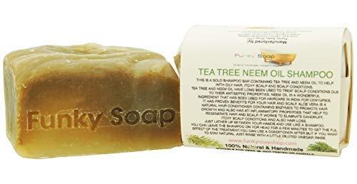 Funky Soap Árbol Del Té& Aceite de Neem Barra de Champú 100% Natural...