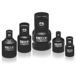 professional Neiko 30249A Impact Adapter and Adapter Set, Chrome Vanadium Steel | Set of 5 Parts to Meet…