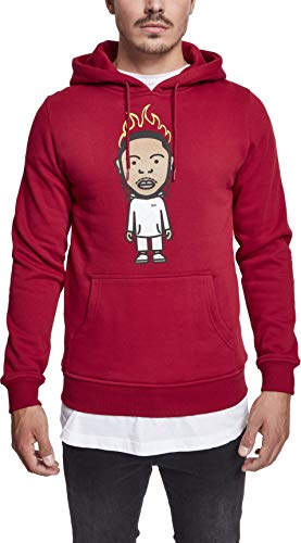Mister Tee (MISUQ) KDOT Hoody Sudadera con Capucha, Rojo rubí, Small para Hombre