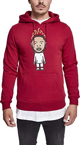 Mister Tee Herren Hoodie Kdot - Streetwear Kapuzenpullover, Ruby, L