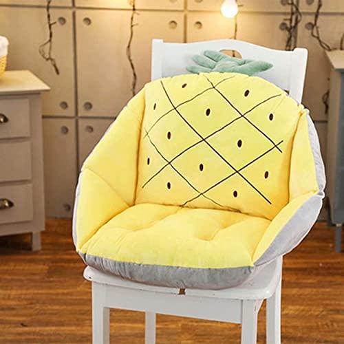 Decoración Nuevo cojín de silla de dibujos animados con soporte de espalda lumbar,almohada de cojín de asiento engrosado para la oficina de asiento del asiento de la oficina del hogar Cojín de pie