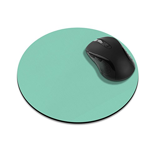 Non-Slip Round Mousepad, FINCIBO Solid Mint Green Mouse Pad for Home, Office and Gaming Desk