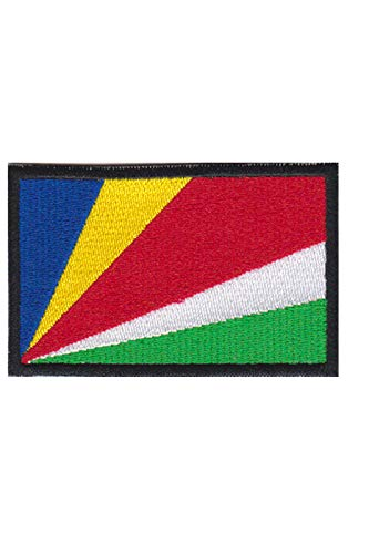 Aufnäher mit Seychellen-Flagge, bestickt, zum Aufbügeln, Souvenir-Zubehör