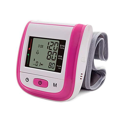 WANGXN Handgelenk-Blutdruckmessgerät Präzises Blutdruckmessgerät mit digitaler LCD-Anzeige,Pink