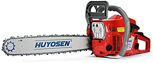 HUYOSEN 62CC 2-Cycle Gas Powered Chainsaw, 20-Inch Chainsaw, Cordless Handheld Gasoline Power Chain Saws for Cutting Trees, Wood, Garden and Farm(HN-C6220E)