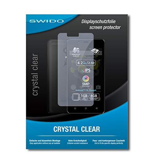 SWIDO Schutzfolie für Allview P4 Pro [2 Stück] Kristall-Klar, Hoher Festigkeitgrad, Schutz vor Öl, Staub & Kratzer/Glasfolie, Bildschirmschutz, Bildschirmschutzfolie, Panzerglas-Folie
