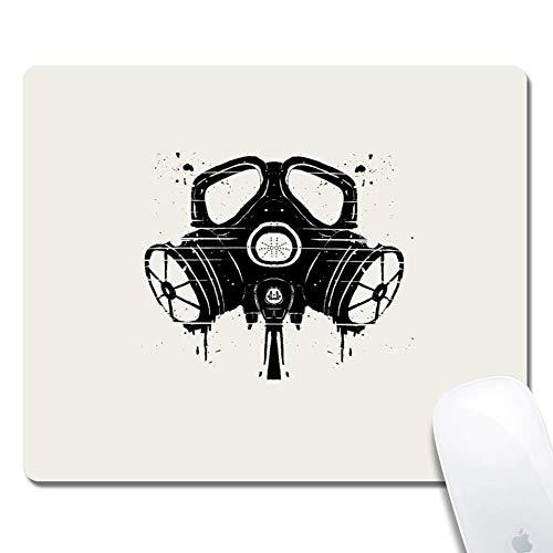 Computer Gasmaske Zeichnung Rechteck Mauspad Gedruckte Gummi Schreibtisch Zubehör Maus Matte