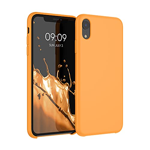 kwmobile Hülle kompatibel mit Apple iPhone XR - Hülle Silikon gummiert - Handyhülle - Handy Hülle in Cosmic Orange