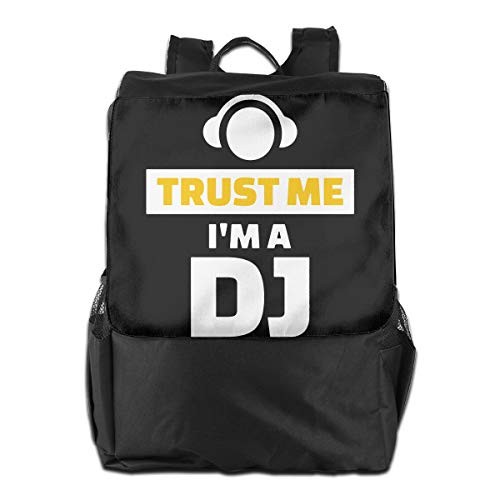 Trust Me I'm The DJ Women Men Laptop Travel Backpack College School Cool Book Bags Best Backpacks for School Hiking Travel
