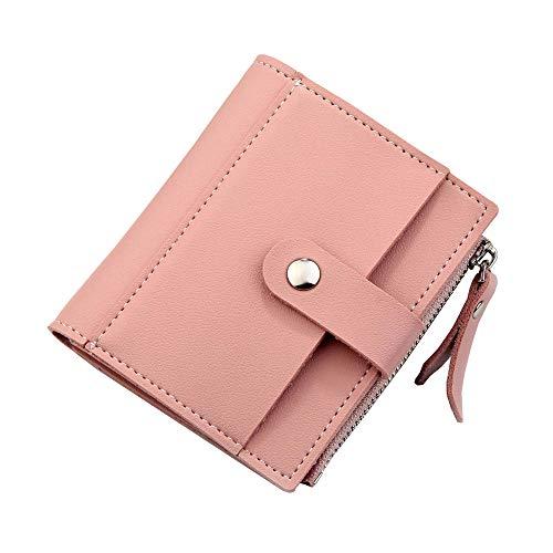 STBB portafoglio Portafoglio Breve Signore Piccolo Portafoglio Patente Di Patente Portafoglio Zero Portafoglio Mini Pulsante Femminile Borsa 075 rosa verticale
