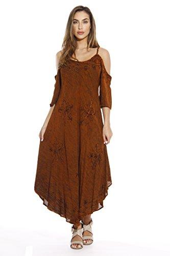 Riviera Sun 21716-RUST-XL Dress/Dresses for Women