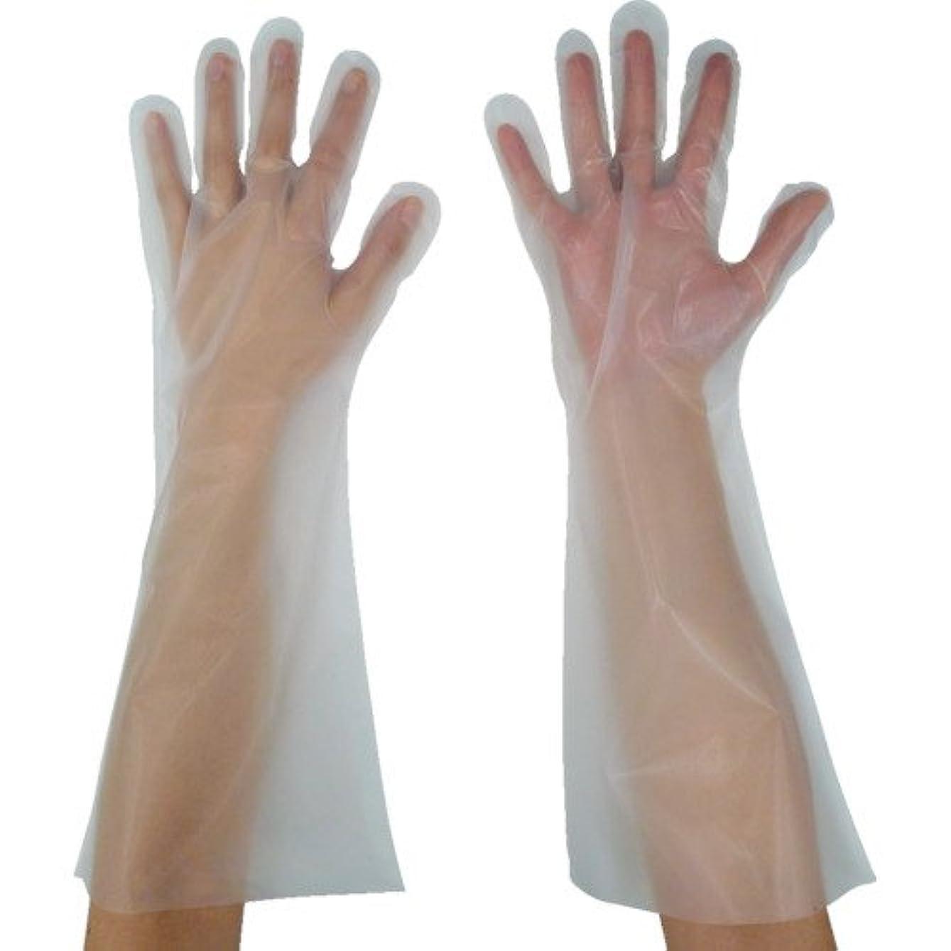東京パック 緊急災害対策用手袋ロング五本絞りS 半透明 KL-S