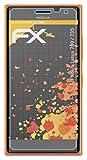 atFolix Panzerfolie kompatibel mit Nokia Lumia 730/735 Schutzfolie, entspiegelnde & stoßdämpfende FX Folie (3X)