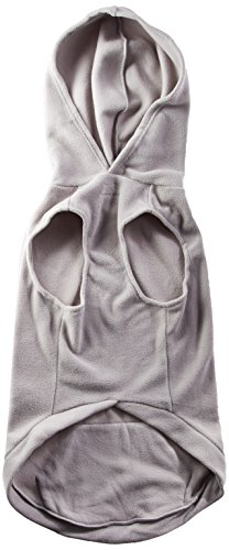 EXPAWLORER Fleece Dog Hoodies with Pocket, Cold Weather Spring Vest Sweatshirt with O-Ring, Grey XXL