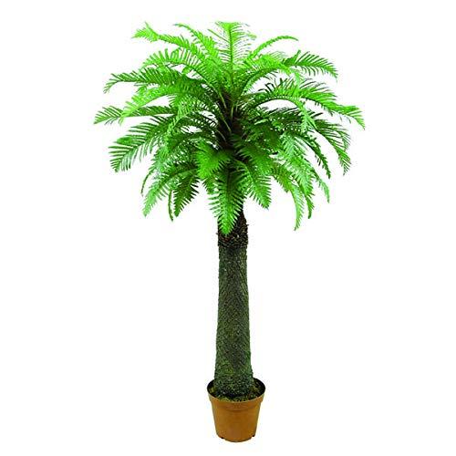 artplants.de Helecho arbóreo Artificial con 53 frondas, Grueso Tronco, 180cm - Planta Artificial - árbol sintético
